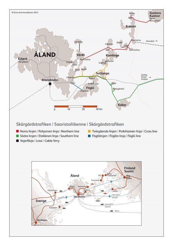Saariston kartta | Ålandstrafiken