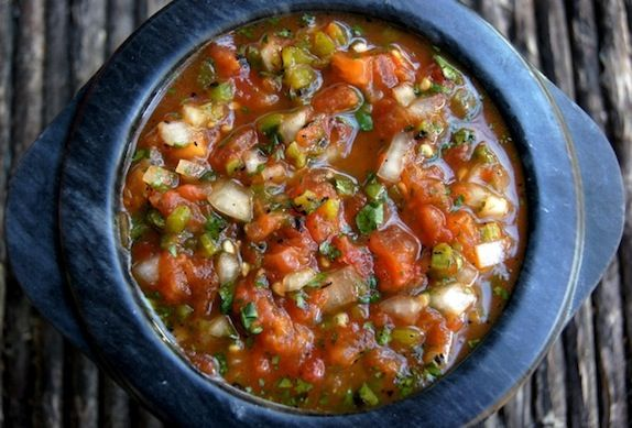 Post image for Roasted Tomato Poblano Salsa Recipe