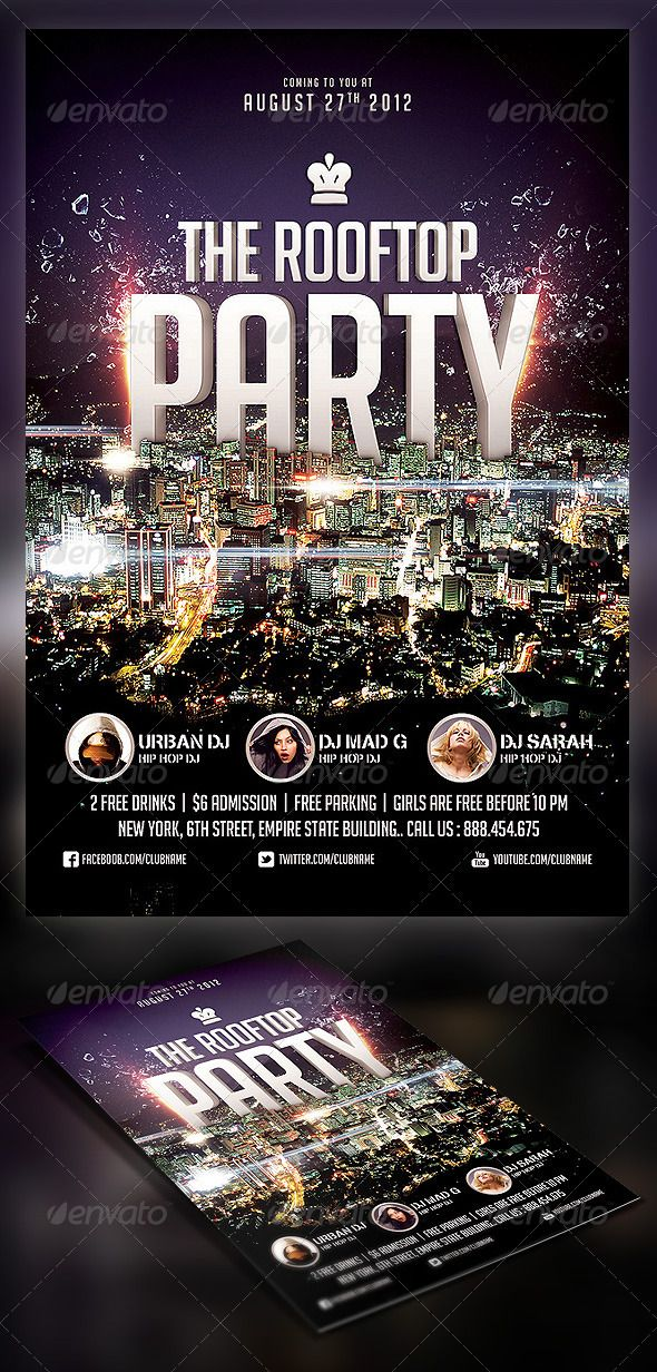 roof top party flyer graphicriver item for sale my flyer designs