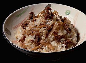 牛肉とごぼうの混ぜご飯