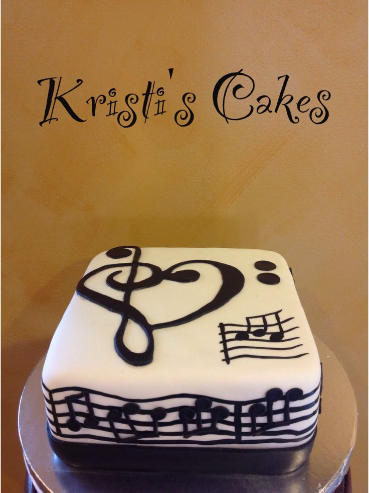 Music note cake--good for Mandy