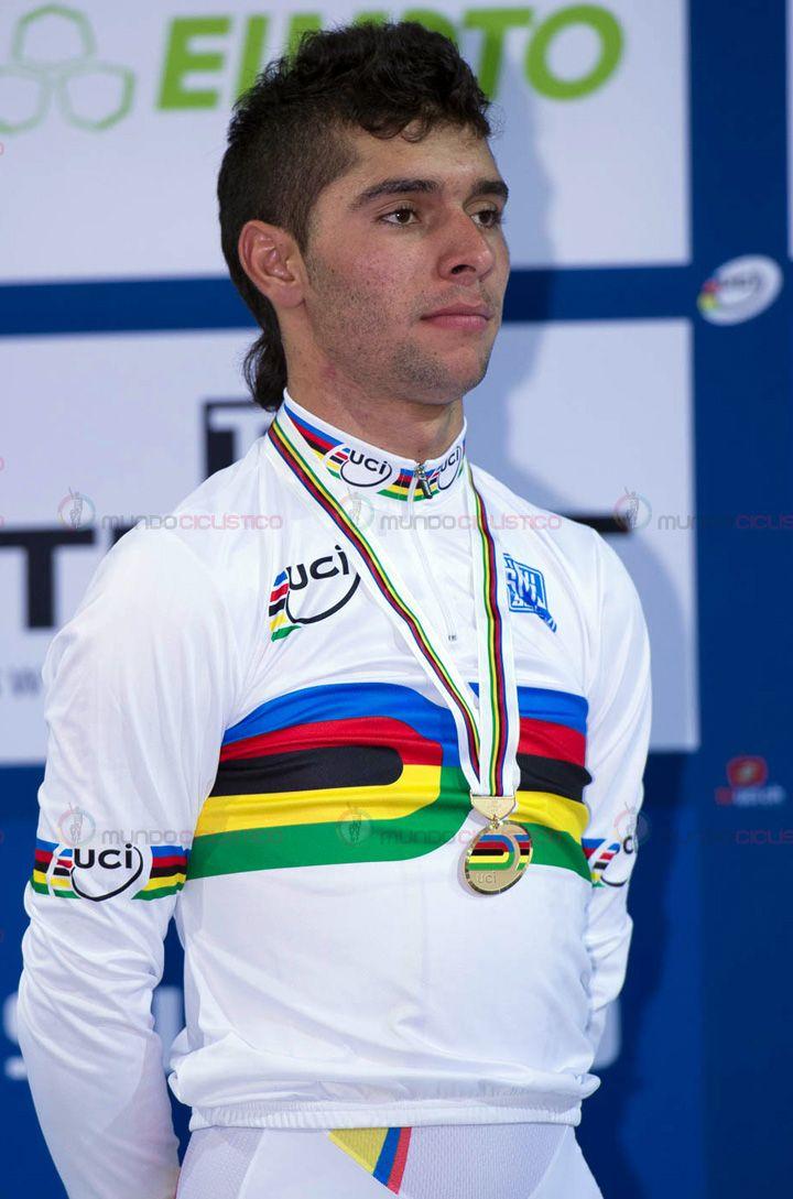 Fernando Gaviria sumó la quinta medalla de oro para Colombia en Mundiales élite de pista. Vencedor en Prueba del Omnium 2015.