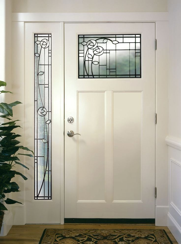 Choosing New Or Replacement Doors And Windows That Look Right On The Exterior Faca Exterior Doors With Glass Craftsman Front Doors Stained Glass Door