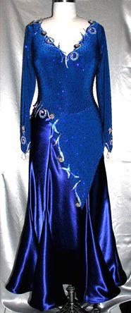 Asymmetrical skirt, decorations that overlap neckline www.ZhannaKens.com