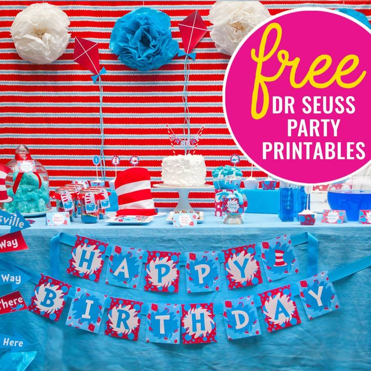 Today you are you, that is truer than true. There is no one alive that is youer than you! Oh how we love Dr Seuss! And oh how we love freebies too! Today we are giving away an entire Dr Seuss party printable set for FREE - food labels, happy birthday banner, thank-you/favor tags, cupcake toppers, candy wrappers and more. You just need to download the file by Clicking Hereand then edit the files using the latest version of Adobe Reader. You can watch the 5 minute how-to video on our FAQ ...