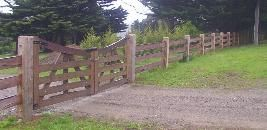 wooden gates and fencing