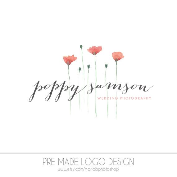 Pre made photography logo watercolor design by mariabphotoshop https www etsy