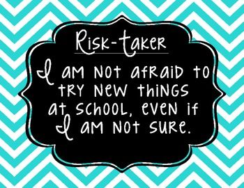 An important lesson to teach students: Taking risks, in a safe setting