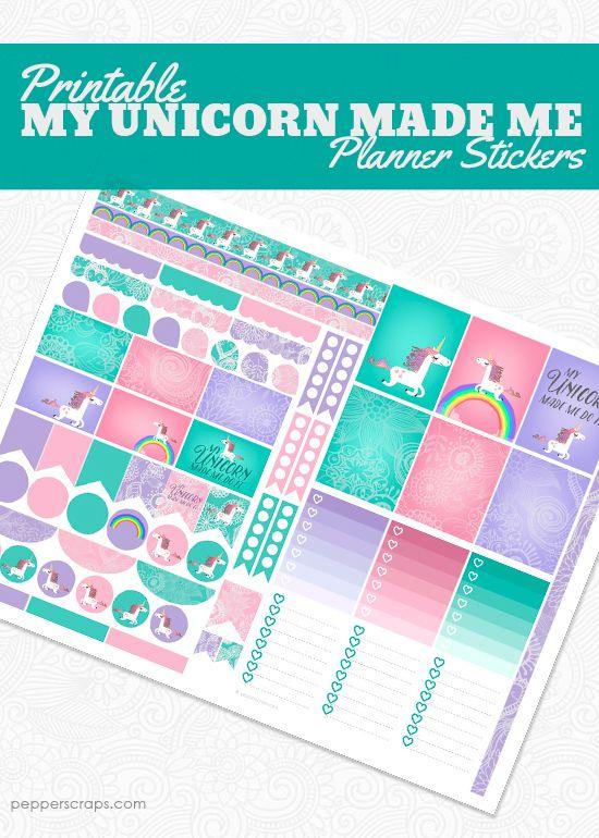 My Unicorn Made Me Do It Planner Stickers | Unicorns, Love ...