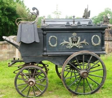 Identified As A Catholic Hearse Funeral Carriages Horse Drawn