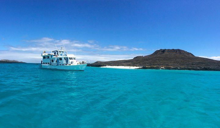 Oh! The blue December skys in Galapagos <3 A #DecemberTrip aboard a Galapagos Cruise is the perfect way to end the year!   This is Sombrero Chino - Galapagos - http://ift.tt/1HQJd81