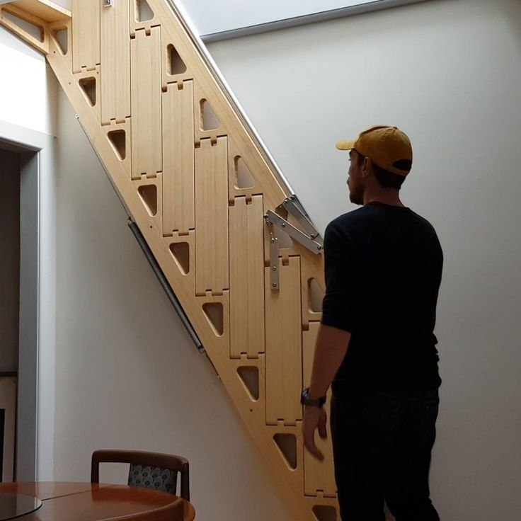 27 Really Cool Space Saving Staircase Designs: This Designer Makes Foldable Furniture That You Can Hide