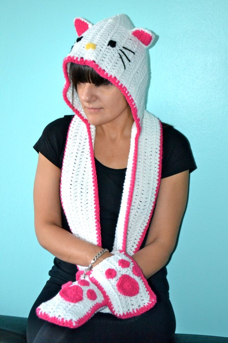 Knitting Pattern For Hello Kitty Sweater : 17 Best images about CROCHET HELLO KITTY on Pinterest Hats, Childrens ...