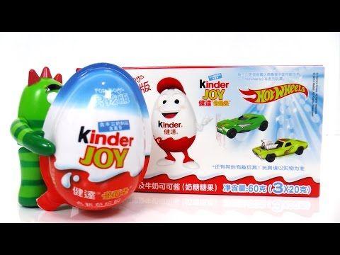 Kinder Joy Surprise Eggs with Hot Wheels Cars Surprises