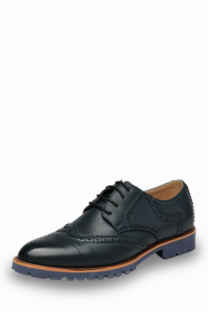 Fashion Brogue Men's Shoes In Navy. Free 3-7 days expedited shipping to U.S. Free first class word wide shipping. Customer service: help@moooh.net