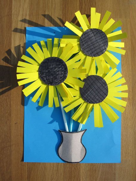 Vincent van Gogh Sunflowers Craft Activity | Paper Arts Crafts Ideas For Creative Kids