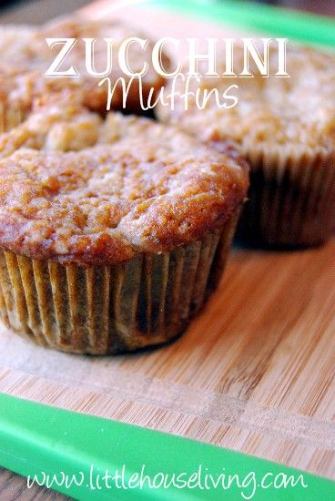 Zucchini Muffin Recipe - Perfect way to use up all that Zucchini from your freezer or summer excess!