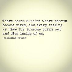 dies inside of us..