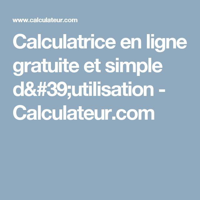 Calculatrice en ligne gratuite et simple d'utilisation - Calculateur.com