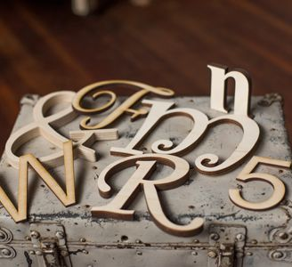 Probably the best website, ever. Wooden letters and monograms for cheap!