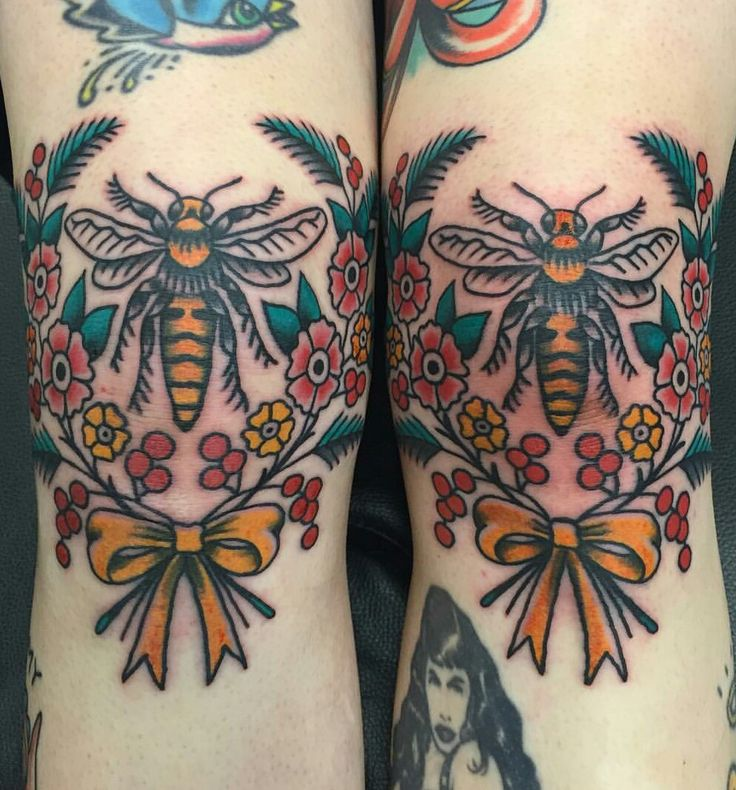 Bees Knees by Nate Moretti Salvation  Tattoo RVA