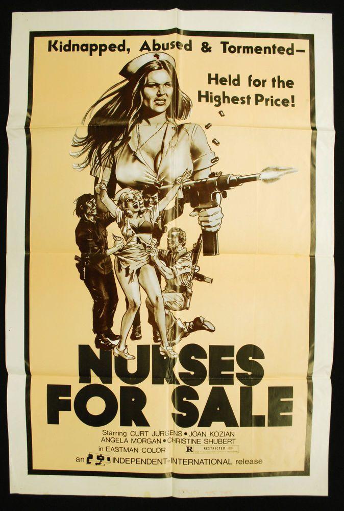 "Original 1971 Nurses for Sale Movie Poster - 27"" x 40"" Sexploitation"