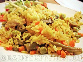 Вегетарианский рецепт овощной паэльи