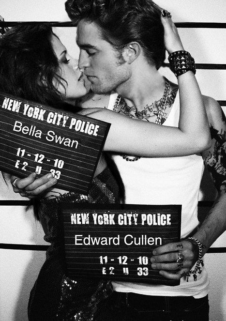 @Sarah Chintomby Cochran Minus it being Edward & Bella - how cool would a jailhouse looking mug shot with our names and wedding date on the plaque??