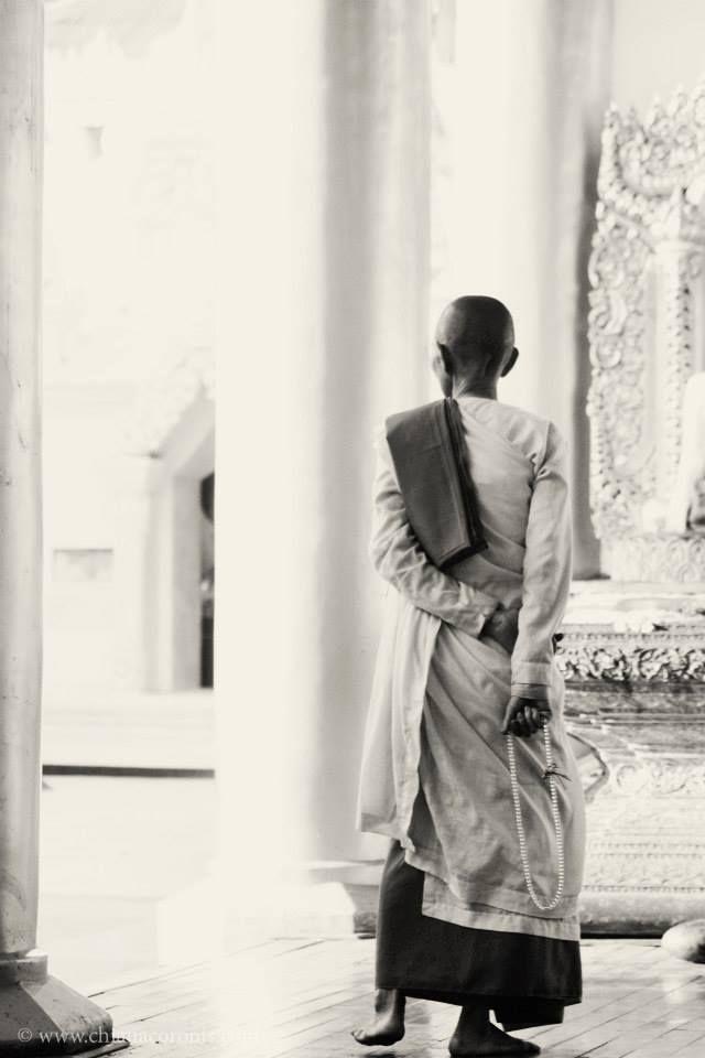 Female monk, Myanmar