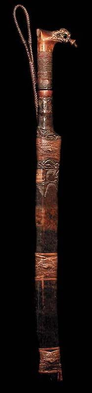 DAYAK MANDAU SWORD BAHAU TRIBAL ART DAVID HOWARD DAYAK MANDAU SWORD BAHAU TRIBAL ART