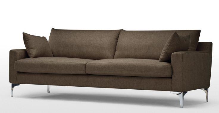 Mendini 3-Sitzer-Sofa, Schokobraun