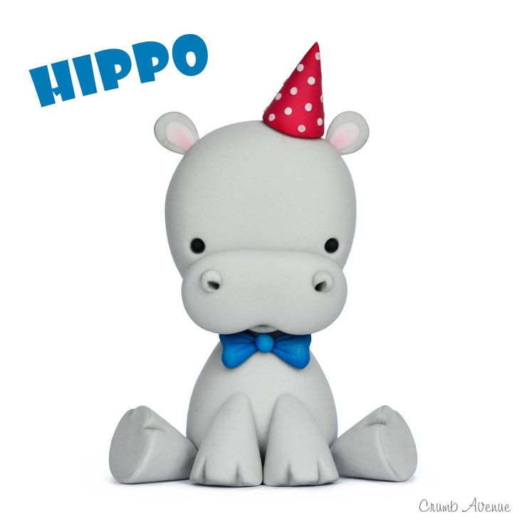 Cute Baby Hippo Cake Topper Tutorial
