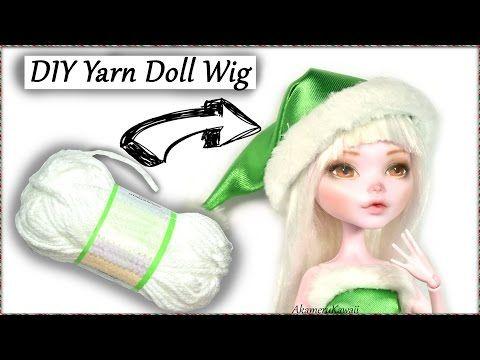 DIY Yarn Doll Wig Tutorial - How to make a doll wig - YouTube