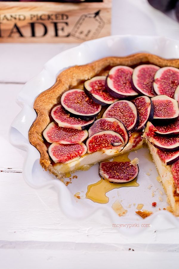 mascarpone maple syrup fig tart//