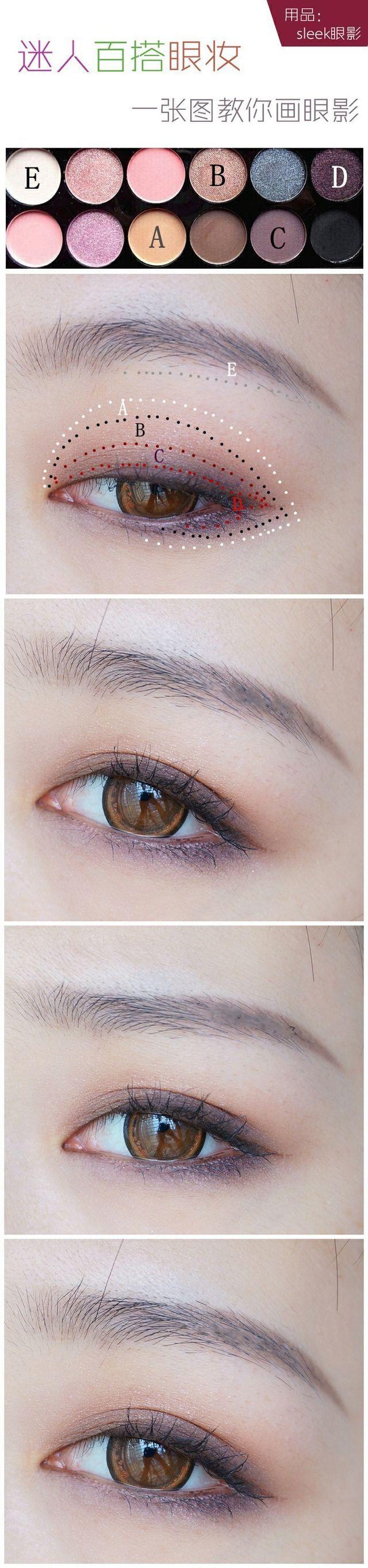 Eye make up for asian girls