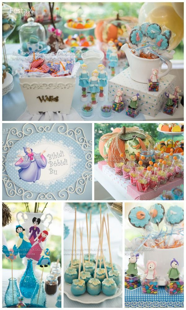 Here are some great Cinderella princess party ideas, perfect for a girl birthday party! See more party ideas at CatchMyParty.com. #cinderella #partyideas #princess #girlbirthday