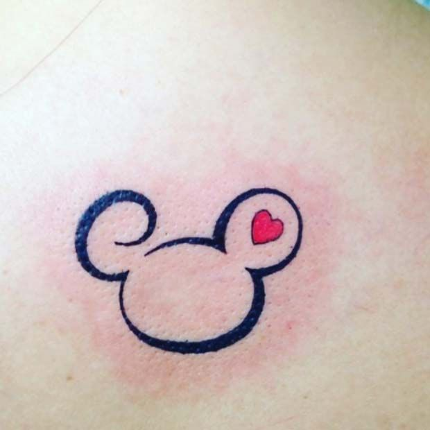 Small Mickey Mouse Outline for Small Disney Tattoo Ideas
