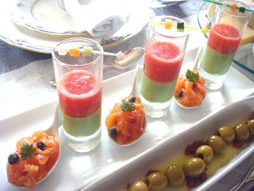 ブロッコリーのムースとフルーツトマトのジュのショットグラス仕立て   前菜 フランス料理レシピ  フランス料理総合サイト【フェリスィム】〜フレンチでライフスタイルをもっと素敵に♪〜