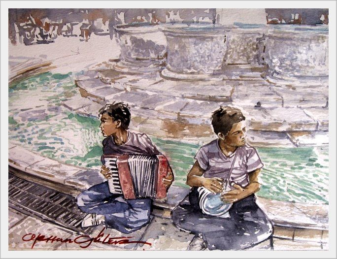 ORHAN GÜLER - Türkish Watercolor Artist Painter - Denizli Sarayköy Art Work