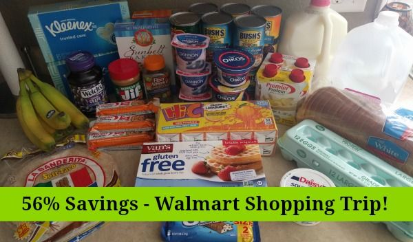 Walmart Shopping Trip - 56% Savings!