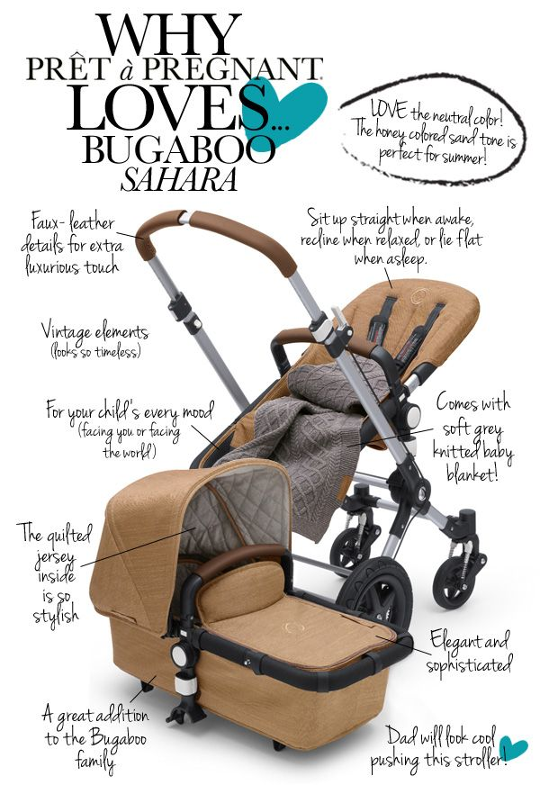 We are always thrilled about special editions and new releases. Mobility pioneer Bugaboo has added this beauty to their family. The Cameleon3 Sahara is a classic beauty and the ultimate stroller for parents who love details. And not unimportant at all.... daddy cool will look great pushing this stroller! Take a look why Prêt à Pregnant loves...... Bugaboo Sahara