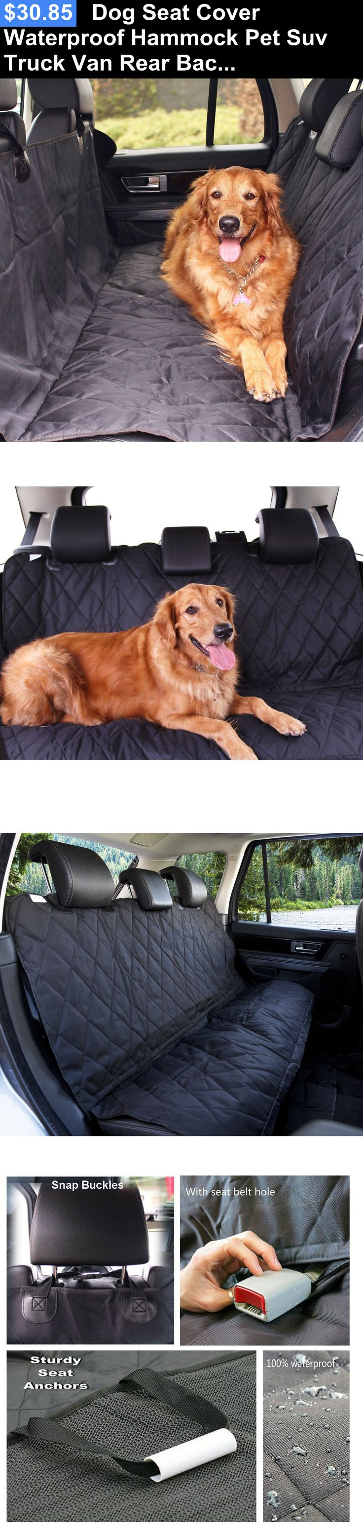 Car Seat Covers 117426: Dog Seat Cover Waterproof Hammock Pet Suv Truck Van Rear Back Protector Mat BUY IT NOW ONLY: $30.85