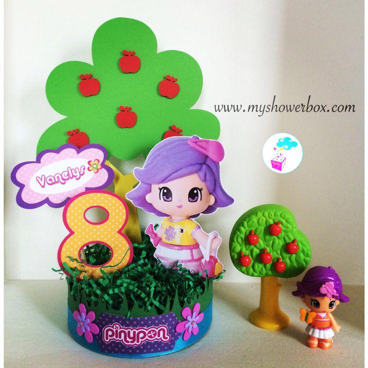 Pinypon centerpieces Birthday decor #www.myshowerbox.com