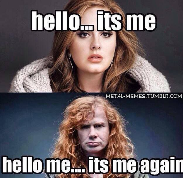 Fuck. Yes. I fuckin hate Adele. Just went to Megadeth concert. It was awesome.