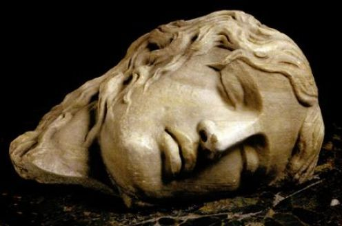 Sleeping womans face (known as Ludovisi Furies from the name of the collector)