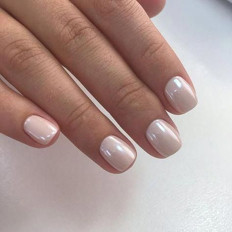 The 35 Prettiest Wedding Nail Colors – gorgeous shimmery ivory wedding nails #na…   – Kosmetik
