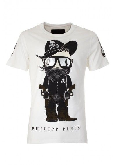 philipp plein 39 bandit 39 t shirt white mens t shirt boudi 98 new bond st london w1s 1sn. Black Bedroom Furniture Sets. Home Design Ideas