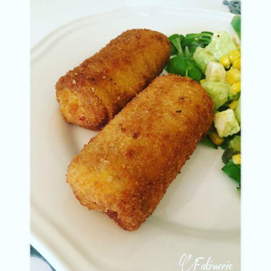 Crêpes panées poulet champignons sauce fromagère | Fatisserie