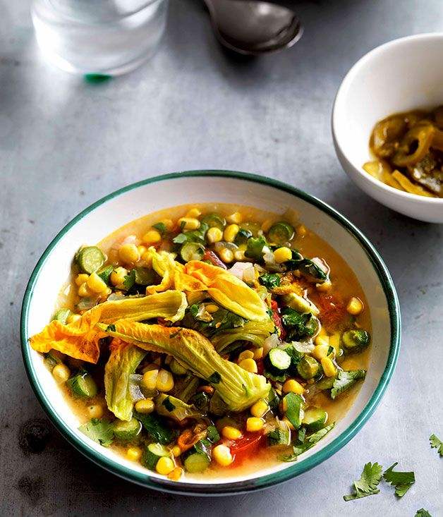 Sopa de flor de calabaza, Mexico - Mexican squash blossom soup #mexicanfood #soup