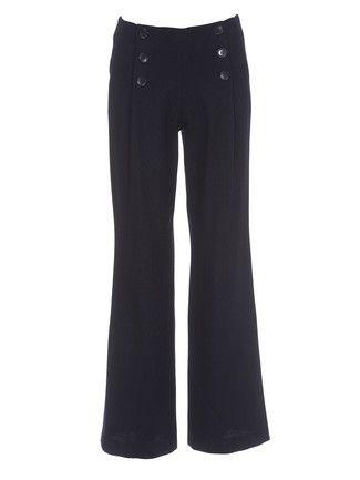 Schnittmuster: Hose - Marine-Stil - Marlenehosen - Hosen - Damen - burda style